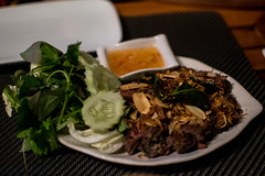 PING SIN KWAN. (Lucero Viktoria) Tags: travel food night restaurant buffalo asia southeastasia meat foodporn laos luangprabang finedining tamarind laofood