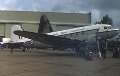 ZA947-GXH-23-08-1980 (swbkcb) Tags: dc3 c47 mildenhall royalaircraftestablishment za947 gxh