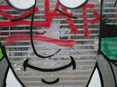 Graffiti mit Durchblick