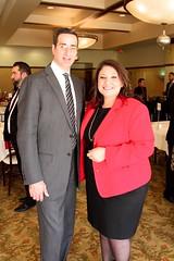 David DiCristofar , Greater Los Angeles lead region president Inland Empire and Evelin Martinez, Wells Fargo Inland Empire area president Community Connections Breakfast