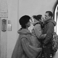 Hug me please (Doxaliber) Tags: street people bw hug hugs