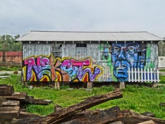 RAD graffiti NEKST and GUS (zen) Tags: abandoned graffiti rad gus nekst zensutherland 20130427