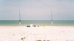 """Florida"" (D A Baker) Tags: sea white hot dan beach landscape mexico landscapes fishing sand long exposure waves baker gulf florida box daniel sandy tide deep july da buckets rods tackle tacklebox danielbaker danielabaker"