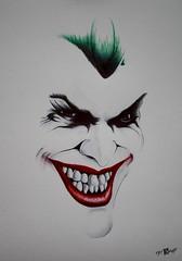 Dessin Joker bic (The R Graff) Tags: rouge noir drawing vert dessin there joker draw bic stylo sadique sourrire thergraff