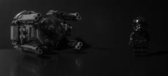 Tie Fighter Pilot. (Suggsy69) Tags: blackandwhite bw monochrome mono blackwhite starwars nikon lego lowkey legostarwars legominifigure minifigure d5200