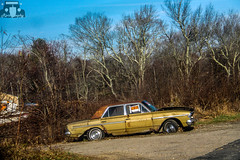 1963 Rambler Classic 770 Sedan (Rivitography) Tags: old classic abandoned car yellow canon vintage rebel automobile forsale antique rusty rhodeisland adobe american t3 rare lightroom 2014 barnfind rivitography