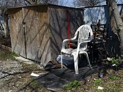 Personal Spot (geowelch) Tags: toronto abandoned chairs urbandecay etobicoke laneway urbanfragments olympusomdem5 panasoniclumixvario1445mm