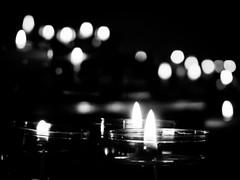 Candle lights (martina.stang) Tags: blackandwhite bw monochrome amsterdam peace bokeh prayer chapel meditation quietness candlelights begijnhof ruhe besinnung