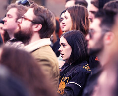 Good Bad Not Evil (kirstiecat) Tags: woman chicago female audience crowd stranger piercing fans blacklips beautifulstranger theemptybottle goodbadnotevil musicfrozendancing