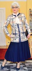 Ingrid022020 (ingrid_bach61) Tags: skirt mature button blazer pleated faltenrock bowblouse schleifenbluse durchgeknpft
