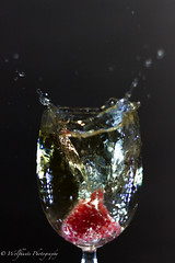 Raspberry & Ginger Ale 11 (Wolfhunte Photography) Tags: glass led raspberry splash gingerale greybackground 20160522