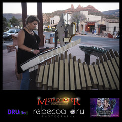 Spiritual Ecstasy Enterprise's Rebecca Dru The Intuitive Soul Photographer™ playing the public xylophone in Sedona (DRUified) Tags: travel arizona usa love transformation sedona xylophone spiritualalchemist rebeccadruphotography misticooper spiritualecstasyenterprise spiritualecstasyshow