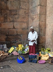 The Handsome Man (The Spirit of the World) Tags: food india vegetables fruit temple worship religion vendor produce local hindu madurai southernindia templewalls famoussightsinindia famoustemplesofindia