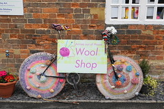 wool wednesday (boggled) Tags: bike knitting woolshop wallwednesday sonya5100