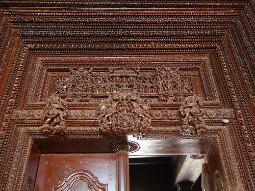 Carved Lintel, Chettinad Mansion, Kanadukathan