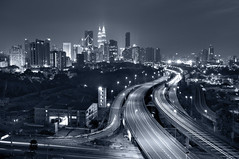 ~ Colorless Glamor ~ (Tan Andy (Sorry if I did not reply)) Tags: city architecture night mono kualalumpur skyscrapper