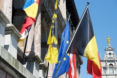 DSC_8900 (AperturePaul) Tags: nikon europe belgium cityhall flag 85mm flags antwerp grotemarkt mainsquare d600
