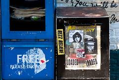 Local Paper Box & Graffiti (Orbmiser) Tags: oregon portland graffiti spring nikon newspapers sidewalk portlandmercury boxes d90 55200vr