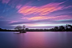 Roses are red, violets are blue... (Langstone Joe) Tags: longexposure lake colour rose clouds sunrise pond violet hampshire petersfield petersfieldheathpond