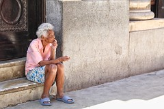 alone (s@ssyl@ssy) Tags: woman lady alone sitting watching havana cuba isolation isolated imagining 2052