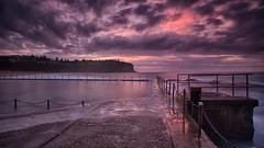 Bilgola Beach Sunrise (RoosterMan64) Tags: longexposure panorama seascape clouds sunrise au australia nsw newsouthwales rockpool northernbeaches leefilters bilgolabeach