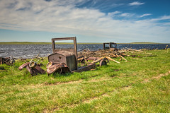 Just Waiting (Wayne Stadler Photography) Tags: canada cars abandoned rural rust farm exploring rusty alberta weathered trucks aged discarded exploration prairies derelict automobiles rustographer travelvehicles
