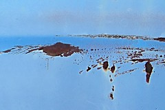 Where Water and Sky Merge (ebergcanada) Tags: blue sky abstract water car landscape rust imagination ip carscapes
