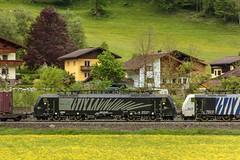 1432_2016_05_24_sterreich_Dorfgastein_LM_6189_907_&_MRCE_dispolok_ES_64_F4_-_027_DISPO_6189_927_mit_ekol_KV_Villach (ruhrpott.sprinter) Tags: railroad schnee salzburg train germany logo deutschland graffiti austria ic sterreich diesel natur wiese eisenbahn rail zug cargo 64 berge nrw passenger es lm blume fret ore gelsenkirchen ruhrgebiet f4 freight bb badgastein locomotives 189 lokomotive amtc cityshuttle sprinter badhofgastein ruhrpott gter 1144 dorfgastein ekol 1116 dispo europischer 6189 mrce tauernbahn lokomotion reisezug rpool dispolok nordrampe ellok cargoserv logserv intercombi lokfhrerschein gastainertal rocktainer