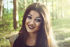 Dafne B. (vince_enzo) Tags: wood trees sunset red portrait sun cute smile make up canon eos 50mm skin lips piercing sorriso bella ritratto pelle bosco capelli rosse labbra lunghi esterna tronchi