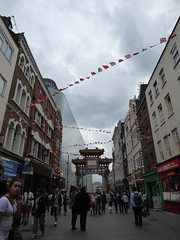 Gate - London Chinatown (ashabot) Tags: travel london silhouette evening gate chinatown citylife cities citystreets streetscenes worldcities