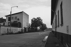 The empty streets (mbernholdt) Tags: 500px arpartement black white photography building city nstved denmark street urban exploration blackandwhitephotography blackwhite urbanexploration regionzealand dk