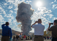 Booster Test for Space Launch System Rocket (NHQ201606280015) (NASA HQ PHOTO) Tags: usa utah nasa promontory testarea billingalls spacelaunchsystemsls qualificationmotortestqm2