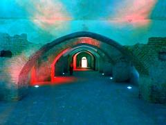 Sunset Colours in a Castle Stable (Claude Marco) Tags: sunset castle colors azul rouge rojo tramonto colours colores fantasy unreal imaginary stable rosso azzurro colori castillo lightblue irreal