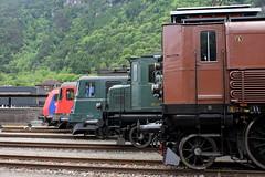 Generationentreffen in Erstfeld (ice91prinzeugen) Tags: sbb historic depot ffs lokomotive 2016 cff gottardo elok erstfeld
