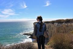 (sweet.disposition) Tags: ocean california blue sea woman plants santacruz sun beach girl sunshine pose landscape model rocks view wildlife sunny cliffs highway1 shore bluffs hwy1 bonnydoon bonnydoonbeach