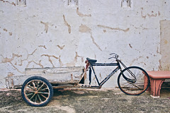 The tricycle (theloonybard) Tags: nature travel traveller photography architecture abstract art india color minimal history monument building black white green tree window wall stone adventure arch door