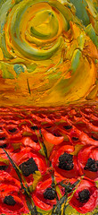 WF14X30-2016-149.nef (Justin Gaffrey) Tags: poppies poppyfield flowers wildflowers florals art painting artist justingaffrey acrylicpaint nature red gold 30aart 30a sowal florida floridaart