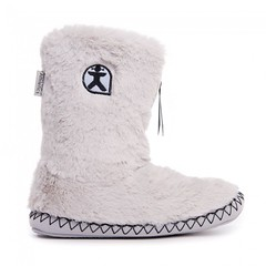 Marilyn - Classic Faux Fur Slipper Boots - Trace Grey (Bedroom Athletics) Tags: womens marilyn classic faux fur trace grey slipper boots by bedroom athletics upper lining decorative zigzag contrast stitch detail mock suede sidewall grosgrain branded zip pull closure embroidered logo textile covered nonslip tpr sole bedroomathletics bed rebellious brand british button iceberg slipperboots relax room loungwear clothing nightwear slippers warm buy lovely lady woman warmth lush nice gift new comfy cosy indoors chillout