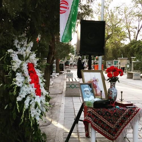 . سی و پنجمین سالگرد #شهید #شادکار با حضور بستگان، دوستان و آشنایان، همکاران شهید و علاقهمندان انقلاب. #بهشت_زهرا #قطعه۲۴