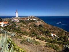 Lighthouse at Cap Bear, Port-Vendres, France (Frank ) Tags: holiday travel france portvendres capbear lighthouse fare iphone cotevermeille mediteranee mer sea atlantic ocean