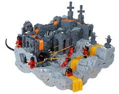 Brzerk's Journey (Dubbadgrim) Tags: lego nocturnus castle ruins