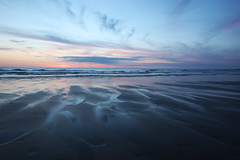 Fistral Beach, Newquay (Wilamoyo) Tags: beach sunset sky night light color landscape sand sea blue nature channels water cloud horizon cornwall coast
