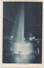 Night.Fountain.Paris (SandraNestle) Tags: sandranestle vintageart oldpostcard cartepostale paris 1950s fountains france