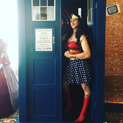 Bet You Didn't Know Wonder Woman Was a Time Lord (Vera Wylde) Tags: cosplay wonderwoman tardis doctorwho crossplay drag queen queer cross dress dresser dressing transvestite transgirl tgirl tgurl vtcomiccon comiccon instagramapp square squareformat iphoneography uploaded:by=instagram clarendon