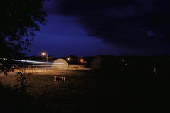 Cloud Racer (lewist584) Tags: sonynex5r sigma19mmf28dn art sigma sony lewist584 polachrome gimp gmic ardennes lieler luxembourg farm farming storm clouds longexposure night bull belgian blue