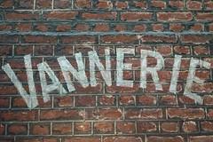 Lige 2016 (LiveFromLiege) Tags: lige liege luik lttich liegi lieja wallonie belgique belgium wall brickwall briques mur vannerie advertising ad painted