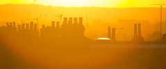 Higgledeepiggledee (ArtGordon1) Tags: sunset sunrays evening london england walthamstow uk october 2016 davegordon davidgordon daveartgordon davidagordon daveagordon artgordon1 chimney urban