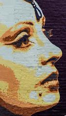 eye lashes and head gem (PDKImages) Tags: art artinthecity manchesterstreetgallery manchester walls murals beauty woman lady girl pretty beautiful skull butterfly bee fish chicks alone joker thejoker sinister sneer hidden ladders checks skyline birds