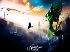 Deliverance (AdaraRosalie) Tags: fantasy falling newyorkcity city cityskyline crow beautifulwoman adararosalie jayderosalie digitalart