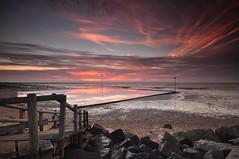 Essex Shoebury (daveknight1946) Tags: sunrise essex eastbeech shoeburyness boulders pinksky ramp riverthames